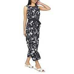 Dorothy Perkins - Petite navy floral print jumpsuit