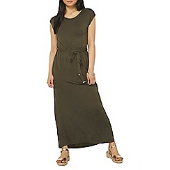 Dorothy Perkins - Petite khaki maxi dress