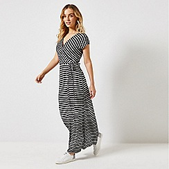 Dorothy Perkins - Petite Black Striped Maxi Dress