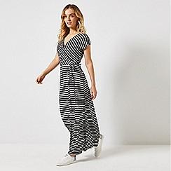 Dorothy Perkins - Petite Black Striped Maxi Dress