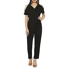 Dorothy Perkins - Petite black wrap jumpsuit