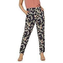 Dorothy Perkins - Petite navy floral joggers