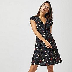 Dorothy Perkins - Petite Black Ditsy Tea Dress
