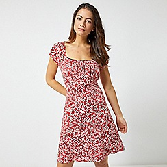 Dorothy Perkins - Petite Red Ditsy Print Dress