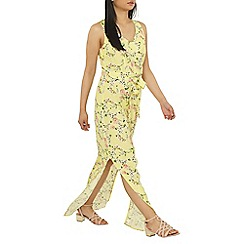 Dorothy Perkins - Petite yellow ditsy floral print maxi dress