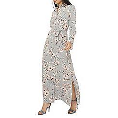 Dorothy Perkins - Petite silver cherry blossom maxi dress