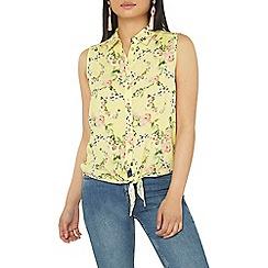 Dorothy Perkins - Petite yellow ditsy blouse