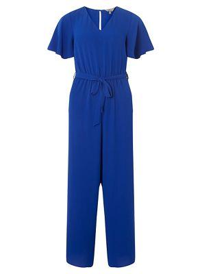 Dorothy Perkins   Petite Cobalt Tie Front Jumpsuit by Dorothy Perkins