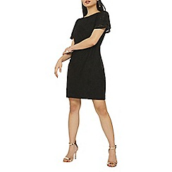 Dorothy Perkins - Petite black lace shift dress