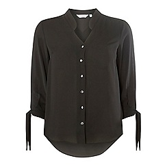 Dorothy Perkins - Petite black collarless shirt