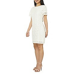 Dorothy Perkins - Petite ivory lace shift dress