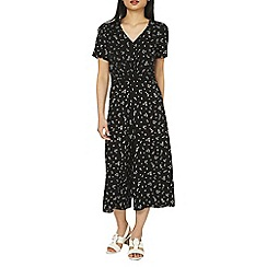 Dorothy Perkins - Black ditsy print twist jumpsuit