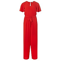 Dorothy Perkins - Petite red tie front jumpsuit