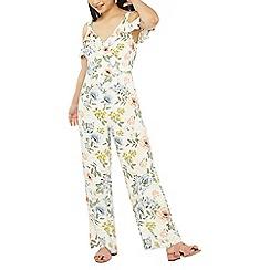 Dorothy Perkins - Petite ivory floral print jumpsuit