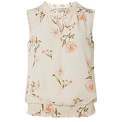 Dorothy Perkins - Petite blush lily print sleeveless top