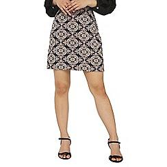 Dorothy Perkins - Petite navy paisley jacquard mini skirt