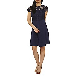 Dorothy Perkins - Petite navy fit and flare dress