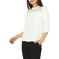 Dorothy Perkins - Petite white lace yoke top
