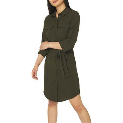 Shoptagr Dorothy Perkins Petite Khaki Shirt Dress By Dorothy Perkins