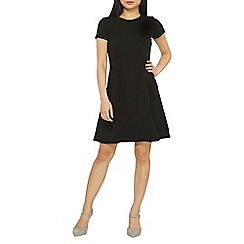 Dorothy Perkins - Petite black seamed fit and flare dress