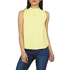 Dorothy Perkins - Petite lemon high-neck sleeveless top