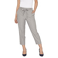 Dorothy Perkins - Petite grey Naples tie waist ankle grazer trousers