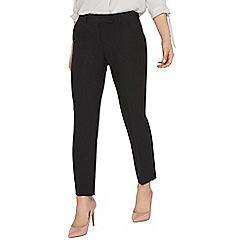 Dorothy Perkins - Petite black straight leg trousers