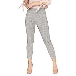 Dorothy Perkins - Petite mini-gingham print trousers