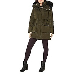 Dorothy Perkins - Khaki zip detail puffer jacket
