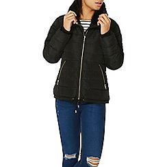 Dorothy Perkins - Black faux fur padded jacket