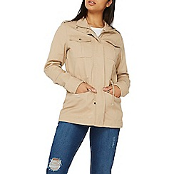Dorothy Perkins - Stone heavy zip collar shacket