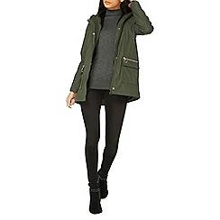 Dorothy Perkins - Khaki faux fur lined raincoat