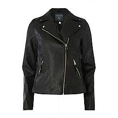 Dorothy Perkins - Tall black biker jacket with zips