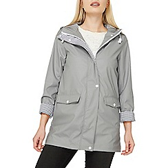 Dorothy Perkins - Grey button front raincoat