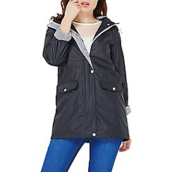 Dorothy Perkins - Navy button front raincoat