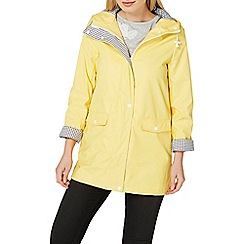 Dorothy Perkins - Yellow button front raincoat
