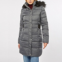 Dorothy Perkins - Grey checked padded coat