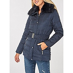 Dorothy Perkins - Navy short luxe padded coat