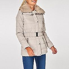 Dorothy Perkins - Grey pebble short padded coat
