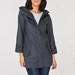 Dorothy Perkins - Navy Spot Lined Raincoat