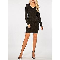 Dorothy Perkins - Black long sleeve mini bodycon dress