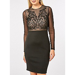 Dorothy Perkins - Black caviar pencil dress