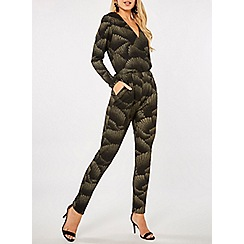 Dorothy Perkins - Black gold foil print jumpsuit