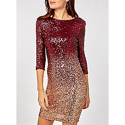 Dorothy Perkins - Pink ombre sequin bodycon dress