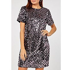 Dorothy Perkins - Purple diamond sequin embellished shift dress