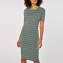 Dorothy Perkins - Stripe bodycon dress with half sleeves
