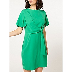 Dorothy Perkins - Green tie front shift dress