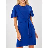 9ddc849f51 Dorothy Perkins - Cobalt tie front shift dress
