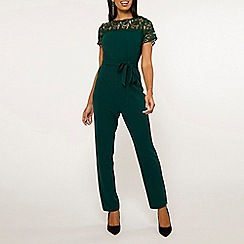 Dorothy Perkins - Green lace mix jumpsuit