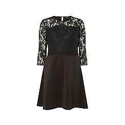 Dorothy Perkins - Black 3/4 sleeve skater dress